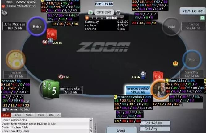【PokerStars】牌局分析:65s连开三枪诈唬 对手还能不弃?