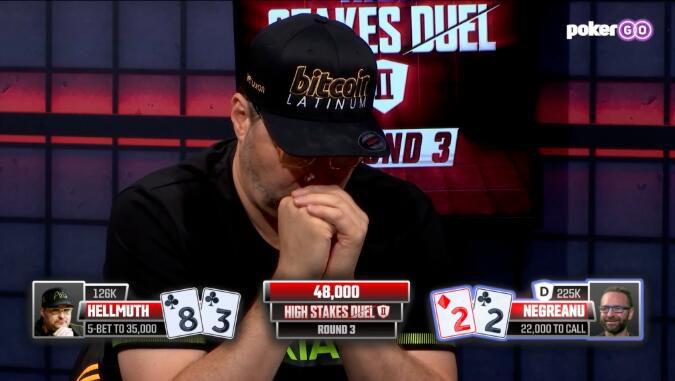 "【PokerStars】还有谁?""单挑之王""Phil Hellmuth挑战赛3:0横扫Daniel Negreanu"