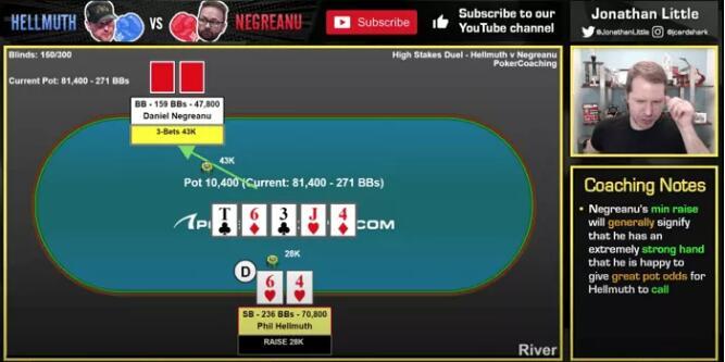 【PokerStars】牌局分析:当两对遇上暗三条 无处可逃……
