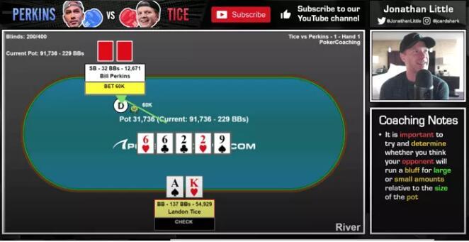 【PokerStars】牌局分析:A high抓诈撞钢板葫芦!头皮发麻……
